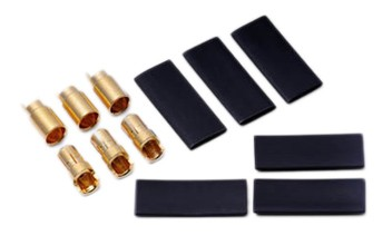 Hyperion 6.0mm Gold Connectors - 3 Pairs With Heatshrink